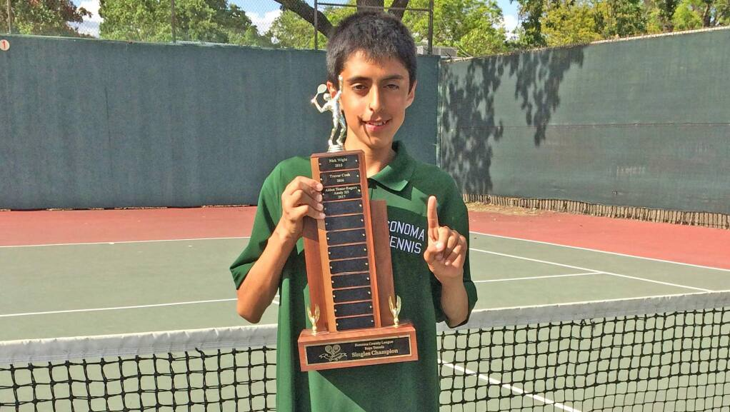 Submitted photoSonoma's Carlos Rubio Friday won the Sonoma County League singles tennis tournament.
