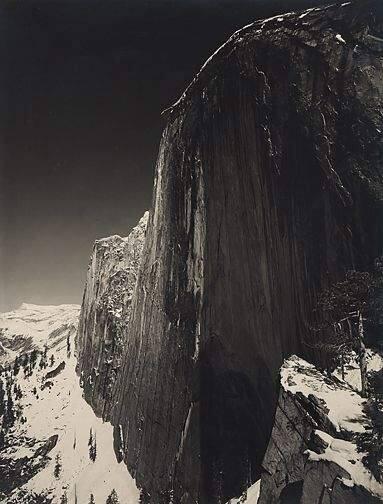 Ansel Adams, Monolith, Face of Half-Dome, Yosemite, California. 1927.
