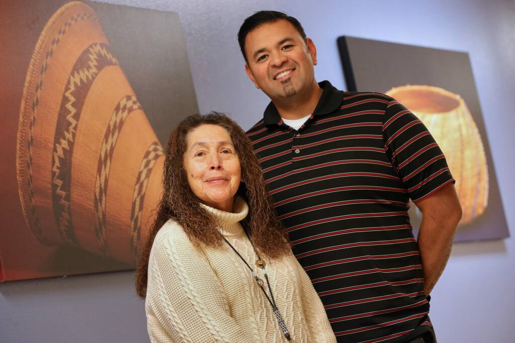 Sonoma County Indian Health Project chief executive officer Betty J. Arterberry, left, and chief operations officer Silver Galleto at their facility in Santa Rosa on Tuesday, Jan. 21, 2020. (Christopher Chung/ The Press Democrat)