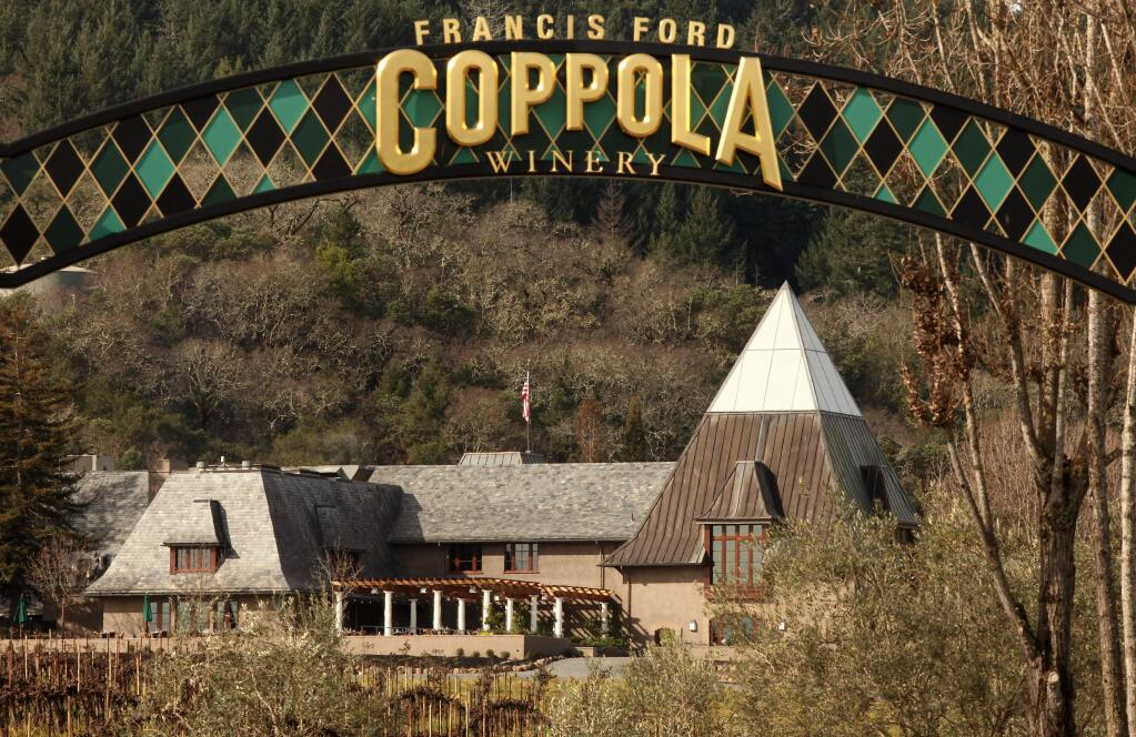 Francis Ford Coppola Winery is nestled among the hills near Geyserville. (The Press Democrat)