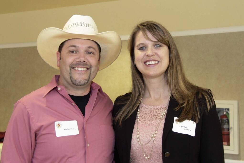 Houston Porter & Andrea Pierotti at the 2017 People's Choice Awards Gala Reception held on June 14, 2017 at the Sheraton Petaluma Hotel. JIM JOHNSON for the ARGUS COURIER