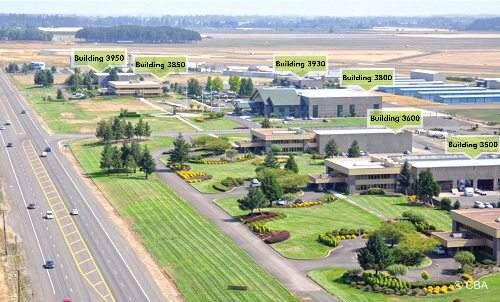Jackson Family Wines purchased a portion of the Evergreen International Aviation site in McMinnville, Ore., shown here in an image from real estate brokerage CBRE.