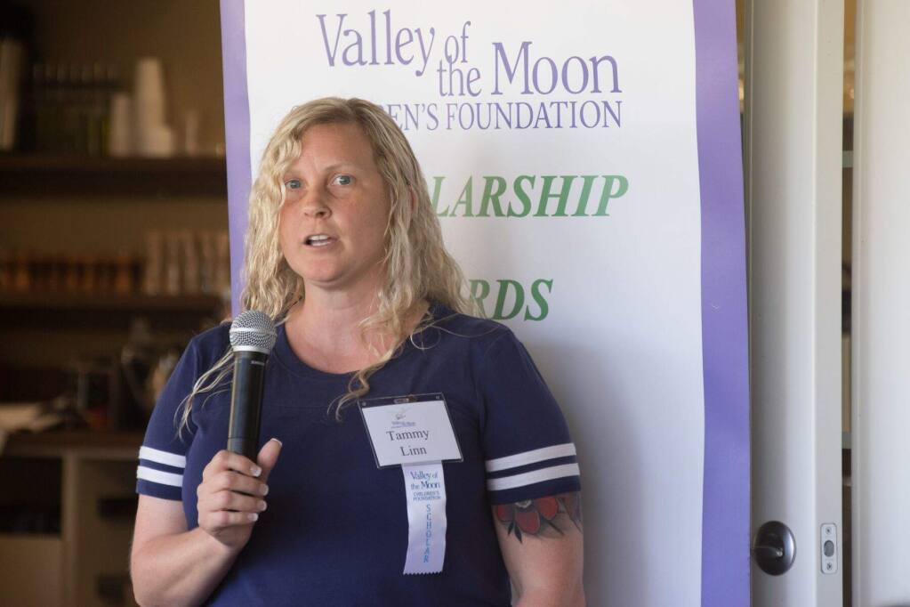 Following a rough upbringing made better with help from the Valley of the Moon Children's Home, Tammy Linn will share in $148.5K of scholarships from the Children's Home Foundation to assist with higher education.