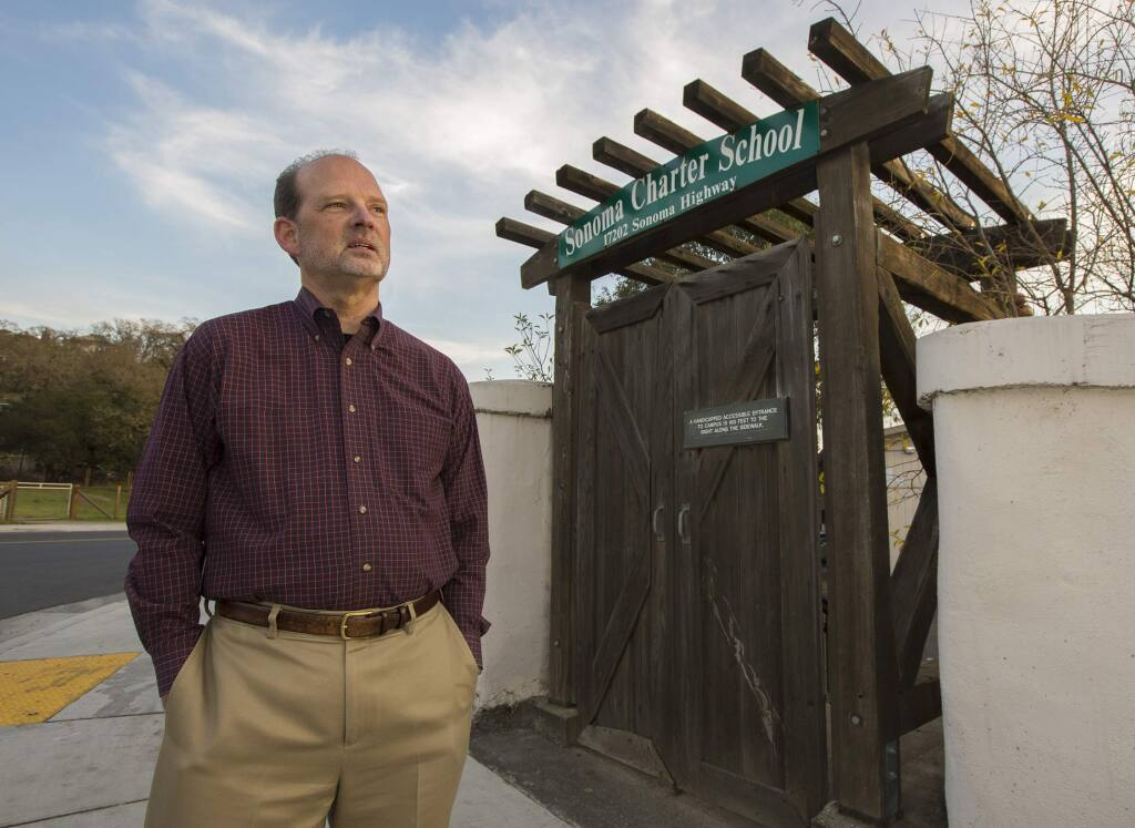 Marc Elin, director of the Sonoma Charter School. (Photo by Robbi Pengelly/Index-Tribune)
