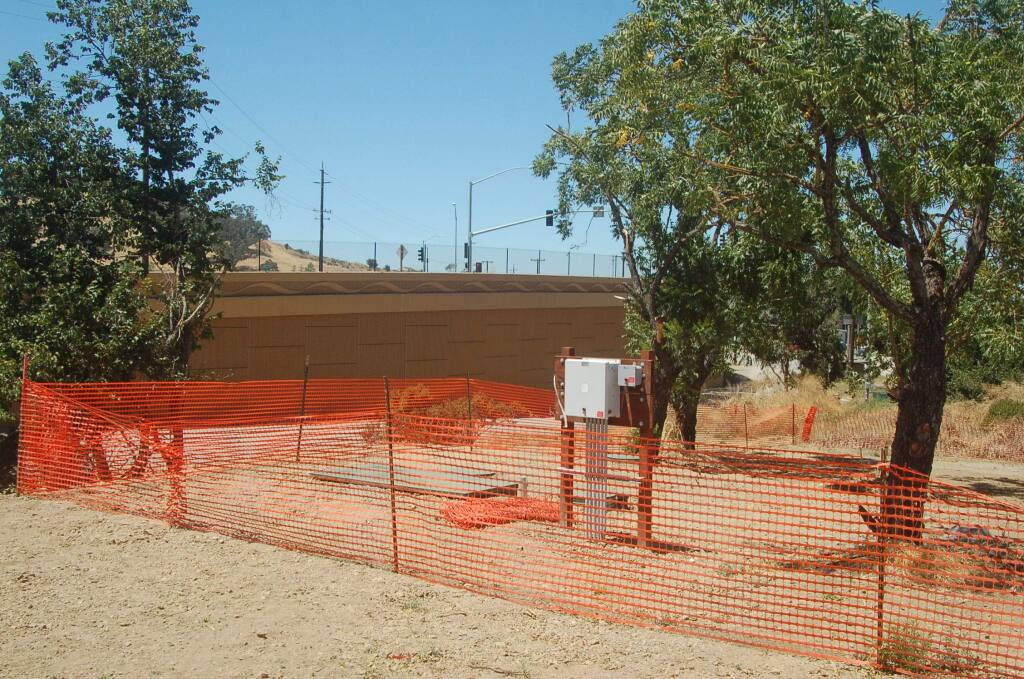 A septic system has been installed on property owned by the Dutra Group at Haystack Landing south of Petaluma. MATT BROWN/ARGUS-COURIER STAFF