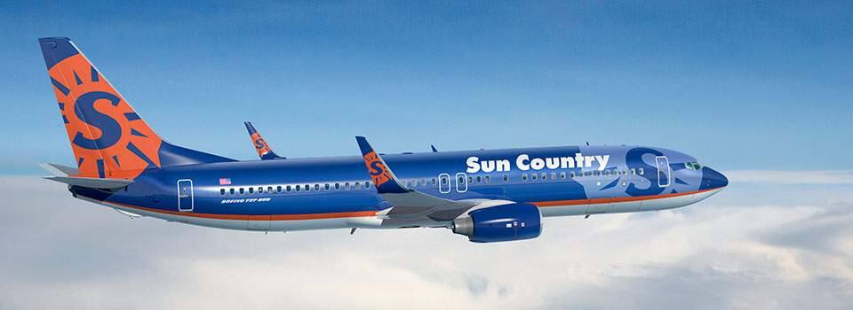 A Boeing 737 plane flown by Sun Country Airlines (BOEING)