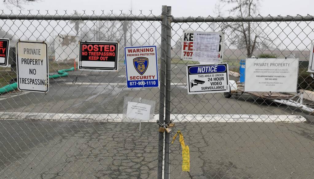 Journey's End Mobile Home Park in Santa Rosa. (KENT PORTER / The Press Democrat)
