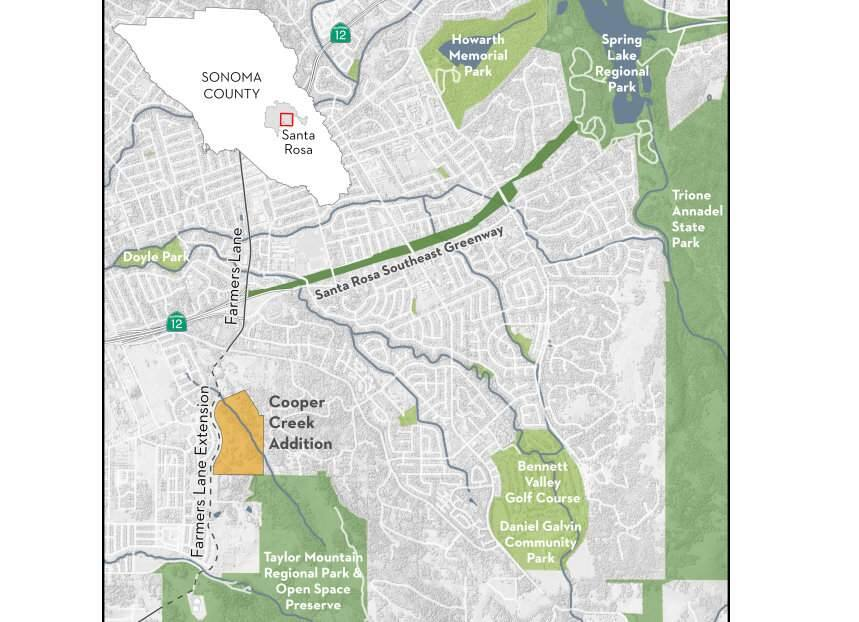 A 54-acre addition to Taylor Mountain Regional Park and Open Space Preserve, made possible through a $1.35 million deal put together by the Sonoma Land Trust, in partnership with regional parks and the Sonoma County Agricultural Preservation and Open Space District, will expand the popular park into the heart of Santa Rosa, providing for future access near the county fairgrounds and possible connectivity to the planned Santa Rosa Southeast Greenway and beyond. (Sonoma Land Trust)