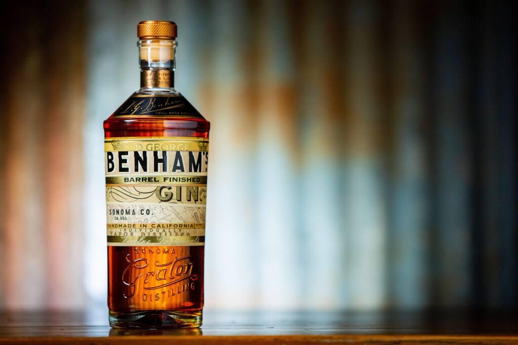 D. George Benham's barrell-finished gin by Purple Wine + Spirits (courtesy photo)