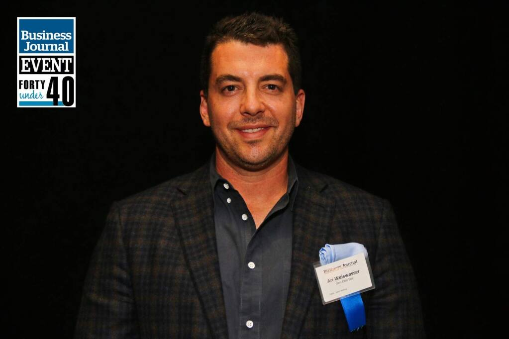 Ari Weiswasser of Glen Ellen Star and Stellar Catering receives one of North Bay Business Journal's Forty Under 40 awards at Hyatt Regency Sonoma Wine County hotel in Santa Rosa on April 20, 2018. (JEFF QUACKENBUSH / NORTH BAY BUSINESS JOURNAL)