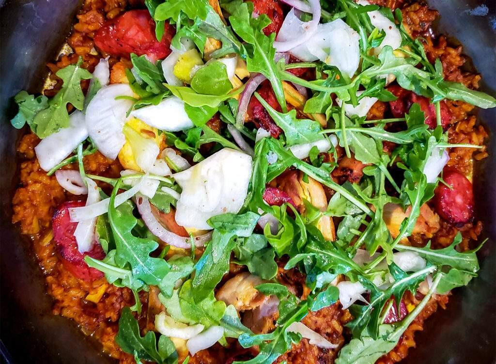 A dish from Gerard's Paella in Santa Rosa. Gerard Nebesky will preside over the first annual Gerard's Paella Festival and Cook-off from 11 a.m. to 3 p.m. Oct. 7 at Old Courthouse Square as part of the Sonoma Vita weekend (HEATHER IRWIN/ PD)