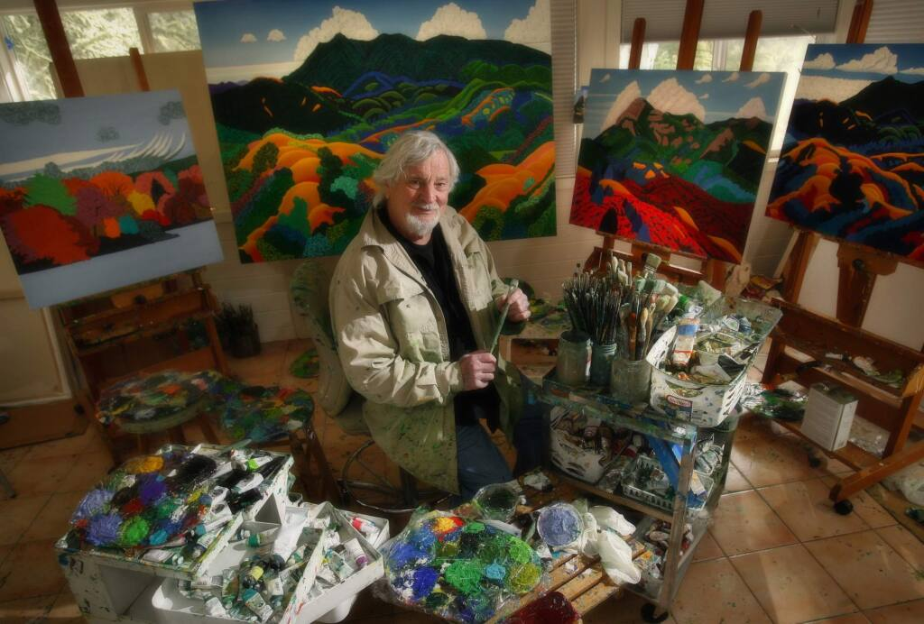 West county landscape artist Jack Stuppin in his studio in the woods west of Graton. (PD FILE)