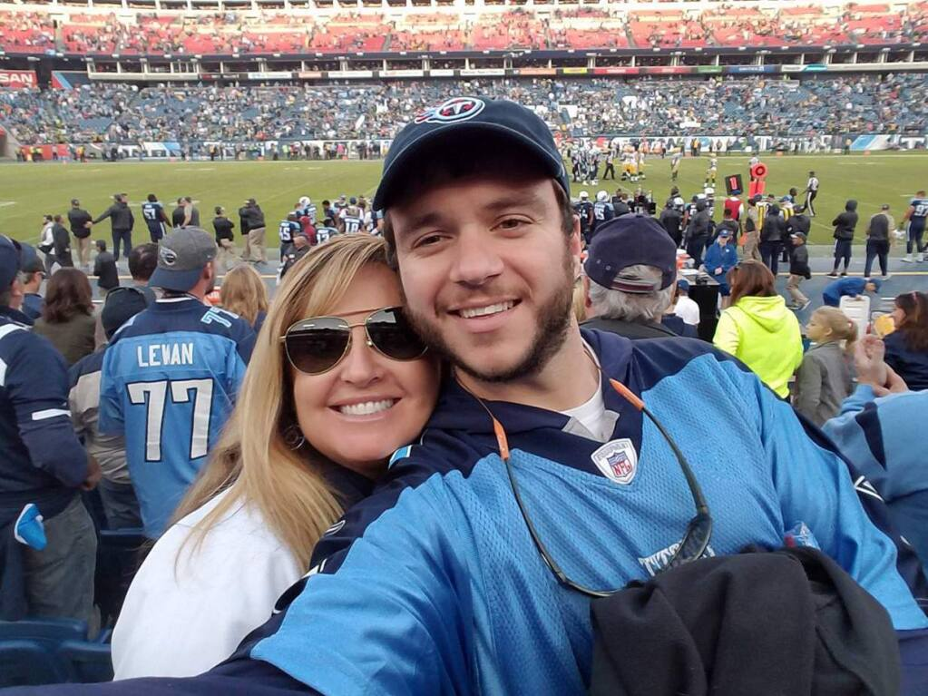 Sonny Melton (right) shown with his wife, Heather Gulish Melton. Sonny was killed in Las Vegas during a mass shooting while carrying his wife to safety. (FACEBOOK)