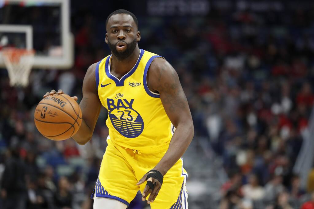 Golden State Warriors forward Draymond Green in the first half in New Orleans, Sunday, Nov. 17, 2019. (AP Photo/Tyler Kaufman)