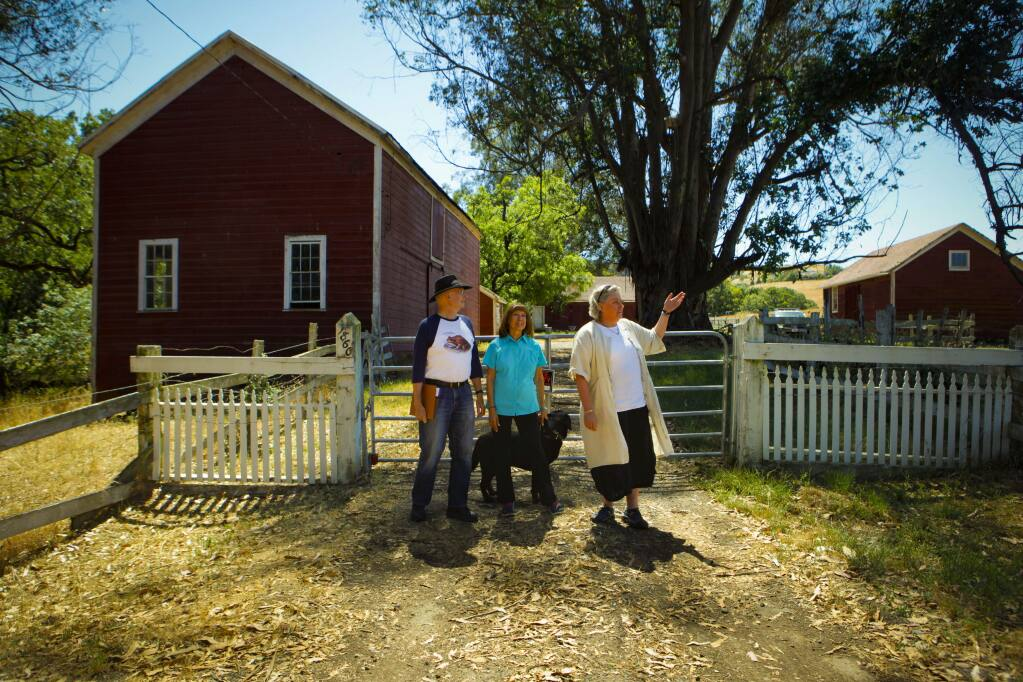 Petaluma, CA. Tuesday, June 13, 2017._ Members of the steering committee of the Petalumans For Responsible Planning discuss the future of the Red Barn and the open space adjacent to Helen Putnam Park due to the purchase of land for development by Davidon. (CRISSY PASCUAL/ARGUS-COURIER STAFF)