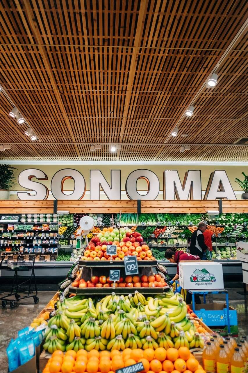 The new interior look at Sonoma Market.