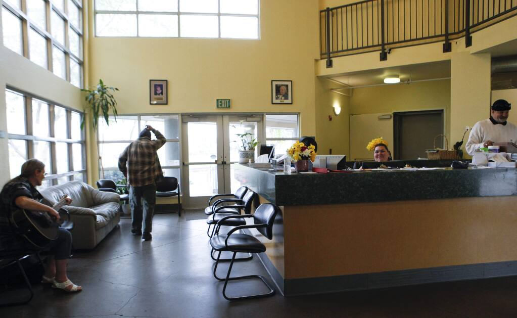 Petaluma, CA, USA. Monday, April 10, 2017. The front desk at COTS' Mary Isaak Center.(CRISSY PASCUAL/ARGUS-COURIER STAFF)