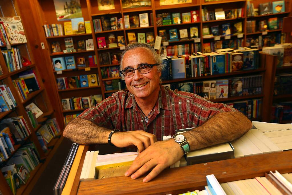 Copperfield's co-owner Paul Jaffe in the Children's section of their Sebastopol store. (JOHN BURGESS / The Press Democrat)