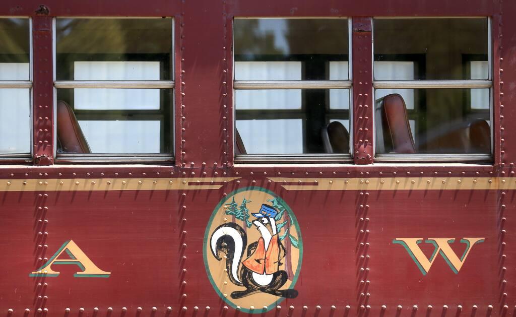 A Skunk Train passenger car in Willits, Thursday July 2, 2015. (Kent Porter / Press Democrat) 2015