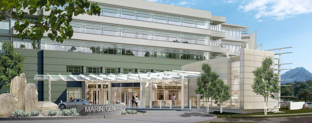 The four-story MarinHealth Medical Center is expected to open in 2020. (Perkins Eastman)