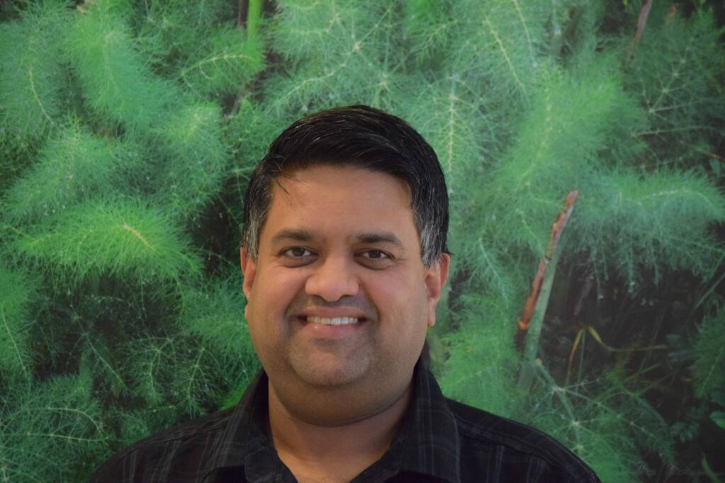 Badri Kothandaraman took over as CEO of Enphase Energy in September 2017. The Petaluma-based company has nearly $300 million in annual sales of micro-inverters. (James Dunn / North Bay Business Journal) March 2018