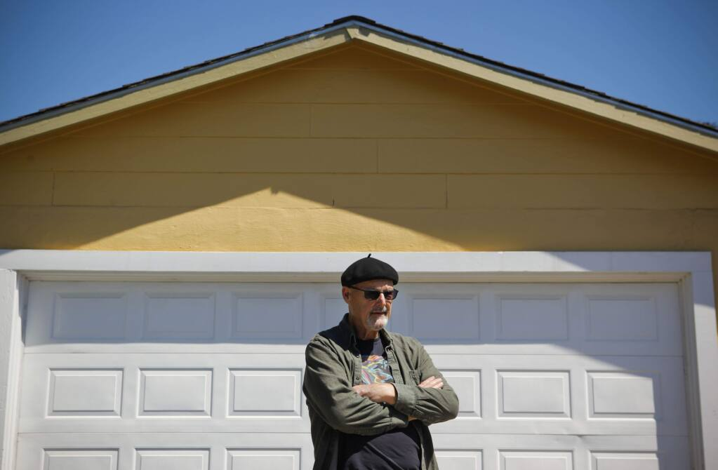 Petaluma, CA, USA. Tuesday, May 23, 2017._ Homeowner Robert is frustrated by the roadblocks that make it difficult to build granny units or additions to houses. He would like to convert his garage, where he works from home, into a small apartment someday.(CRISSY PASCUAL/ARGUS-COURIER STAFF)