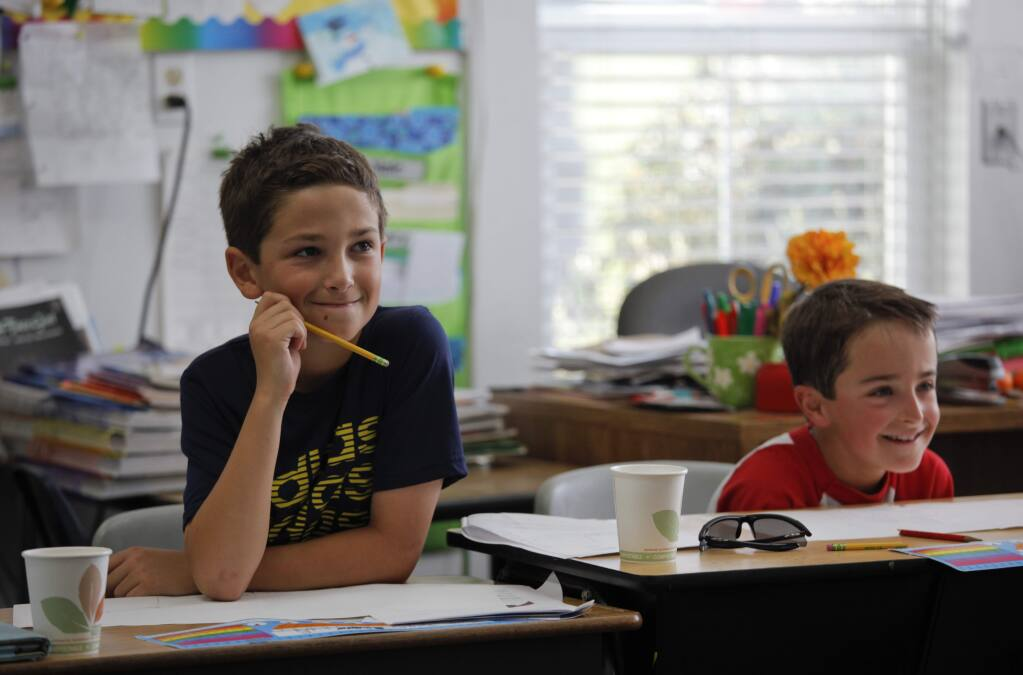 Lincoln School, a one-room schoolhouse on Hicks Valley Road may have to close down if they aren't able to increase enrollment. Currently, seven students attend the school which includes Kindergarten - 6th grade. (CRISSY PASCUAL/ARGUS-COURIER STAFF)