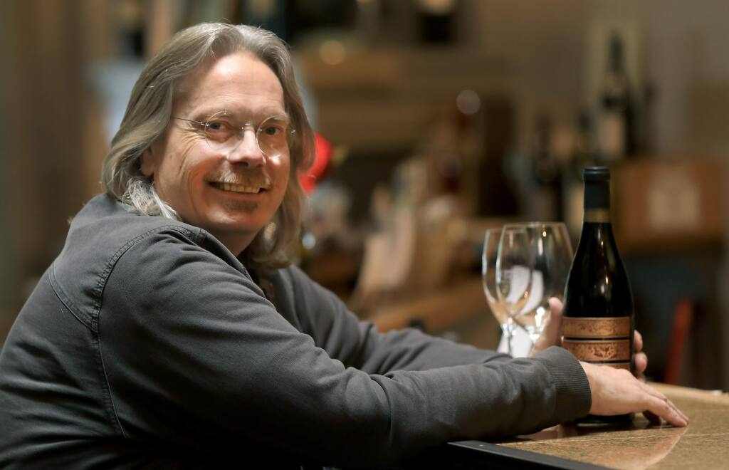 Bob Cabral was chosen to craft the official Game of Thrones wine, Friday, May 17, 2019 in Healdsburg. (Kent Porter / The Press Democrat)