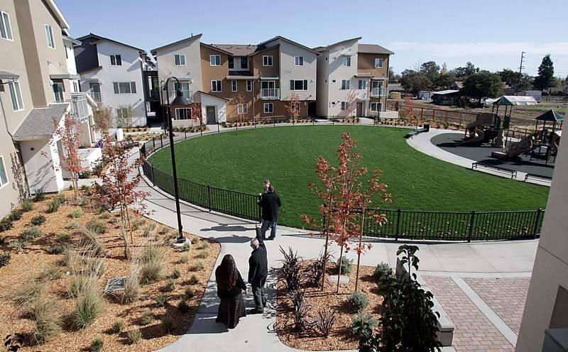 Burbank Housing's Logan Place Apartments, made up of 66 long term affordable apartments, on Petaluma Blvd. North in Petaluma on Monday October 28, 2013.