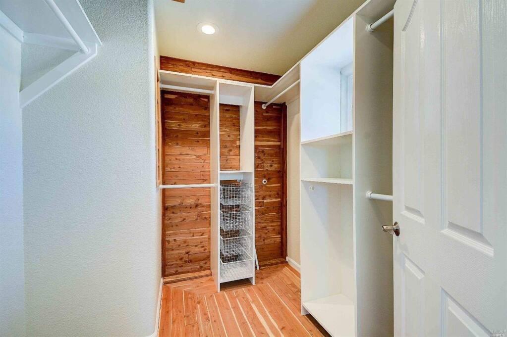 A walk-in closet at 12 Sundance Court, Petaluma. Property listed by Jeffery Figone/I Star Properties, 415-225-1709. (Courtesy of BAREIS MLS)