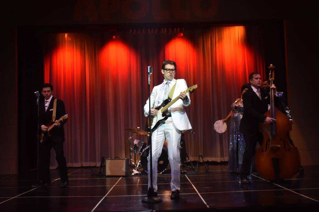 Kyle Jurassic plays Buddy Holly in 'Buddy - The Buddy Holly Story' at the 6th Street Playhouse in Santa Rosa. (JULIA CURRY)