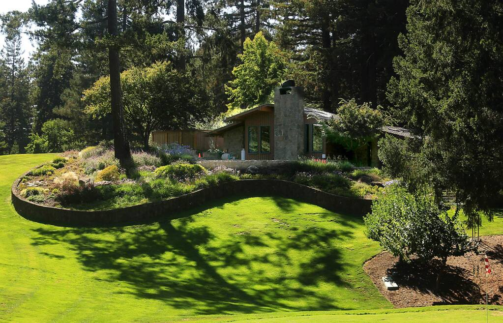 Kent Porter / Press DemocratThe 1960s studio of Charles Schulz is surrounded by a four-hole golf course and redwood trees.