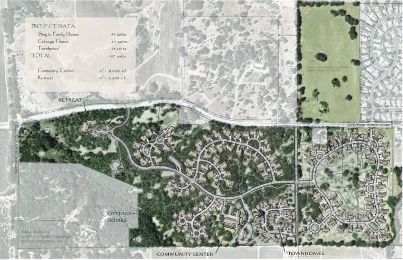 The site plan for the Lytton property outside Windsor.