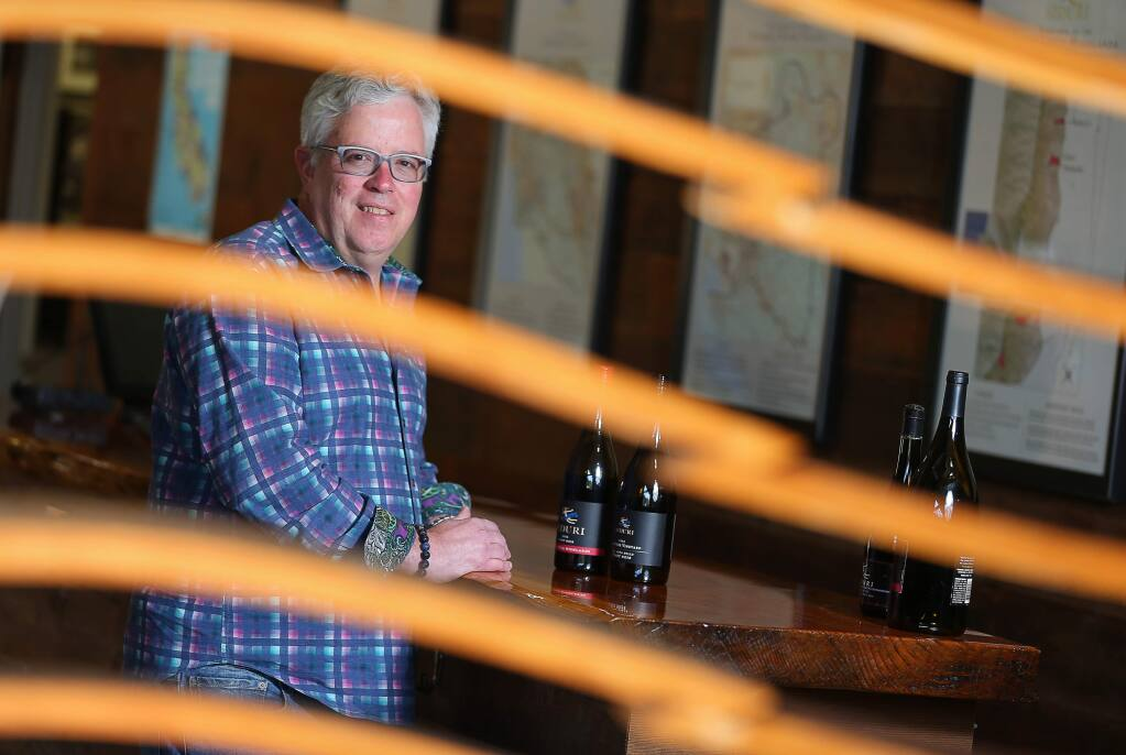 Adam Lee, founder of Siduri Wines, is known as a Pinot Noir specialist. Lee has also founded the Clarice Wine Company.(Christopher Chung/ The Press Democrat)