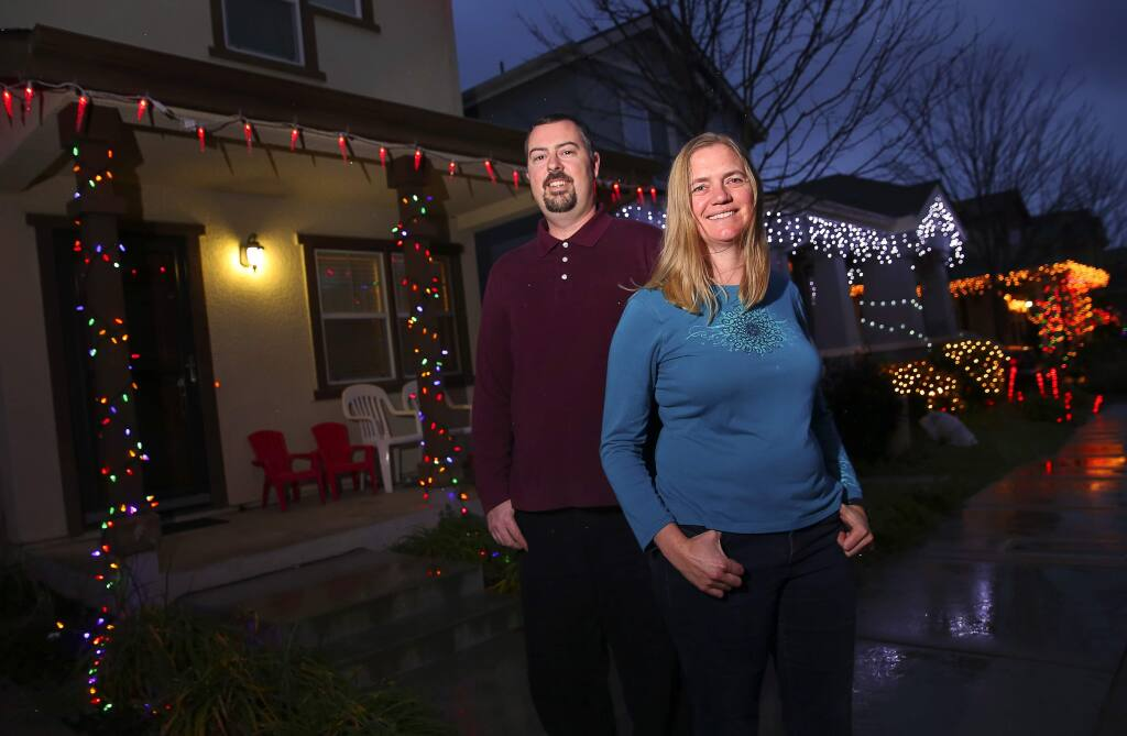 Mary and Patrick Carter were able to afford their Petaluma home, in 2008, through the Housing Land Trust of Sonoma County.(Christopher Chung/ The Press Democrat)