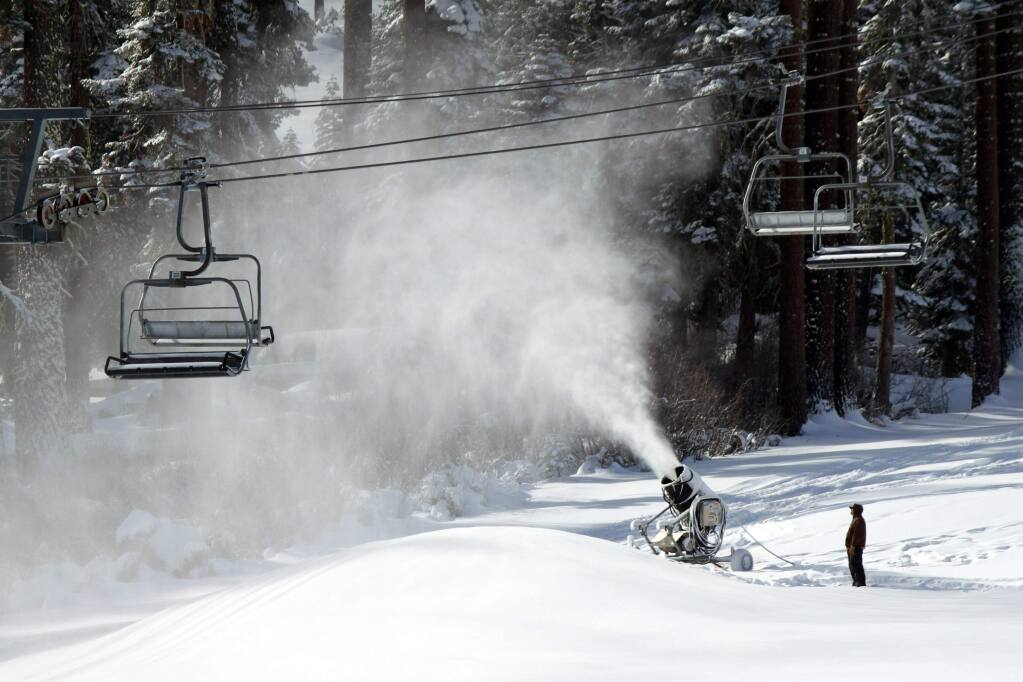 Snow at Sierra-At-Tahoe on Monday, Nov. 9, 2015. (THEA HARDY)