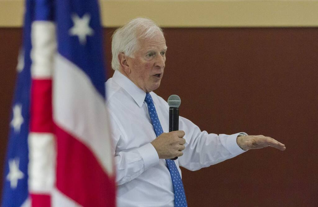 Congressman Mike Thompson at the Sonoma Valley High School in 2018. (Photo by Robbi Pengelly/Index-Tribune)