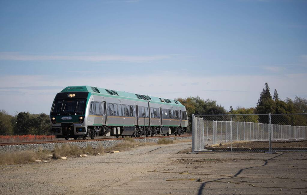 A new SMART train station has been planned at Corona and McDowell in East Petaluma.(CRISSY PASCUAL/ARGUS-COURIER STAFF)