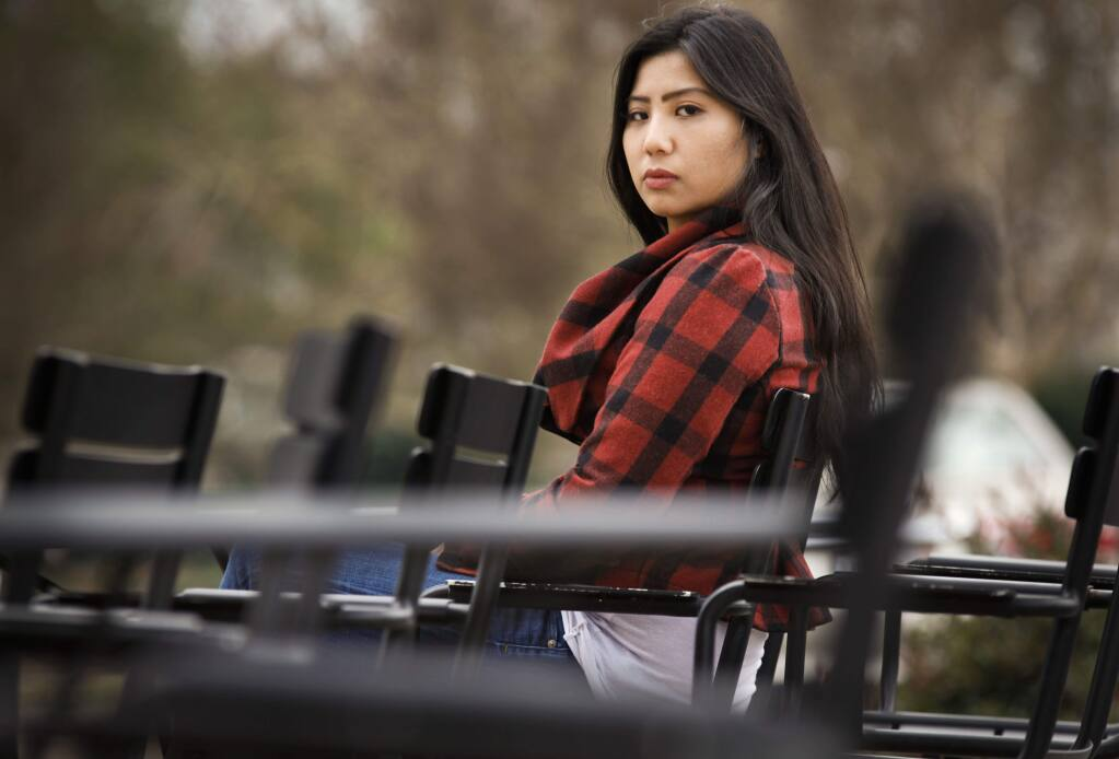 Petaluma, CA, USA. Tuesday, January 02, 2018._ Maya Babow was a victim of sex trafficking when she was 12 years old and a student at Kenilworth Jr HS. She met her perpetrator at the nearby Starbucks. She is now 21 and has been telling her story in hopes that she can help others. (CRISSY PASCUAL/ARGUS-COURIER STAFF)
