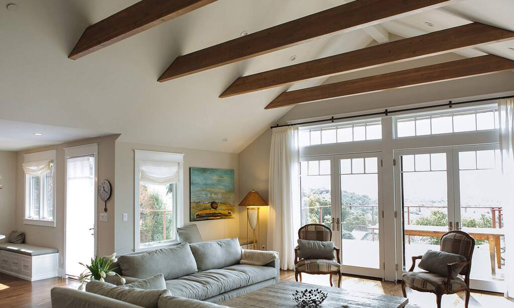 This remodeled Healdsburg home transformed from a ranch house to a more custom designed residence by ZEITGEIST SONOMA. (ZEITGEIST SONOMA architectural + interior design)