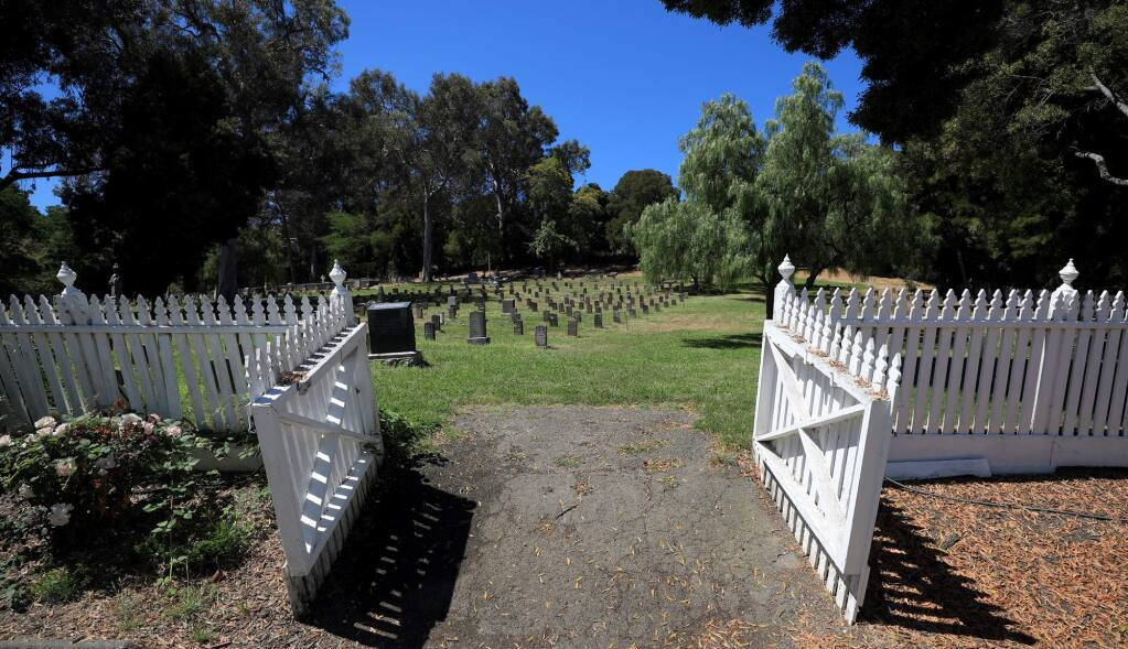 The entrance to the Mare Island military cemetery, Friday, June 22, 2018. (Kent Porter / The Press Democrat) 2018