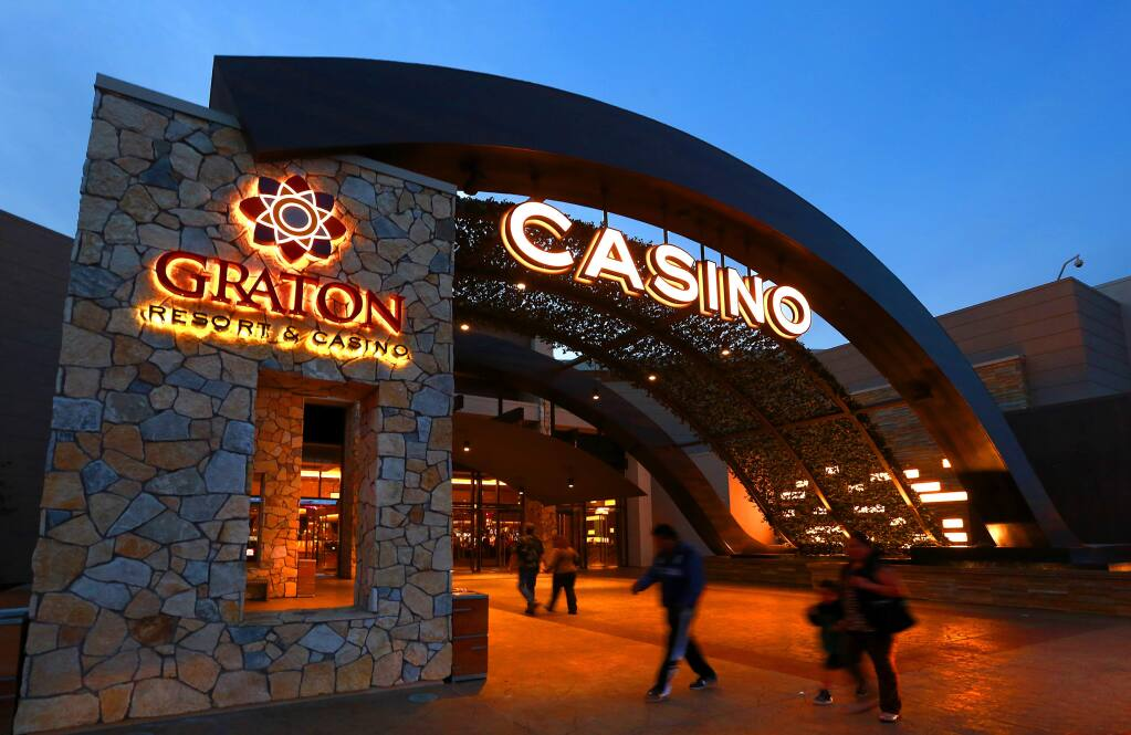 Graton Resort and Casino near Rohnert Park is owned by the Federated Indians of Graton Rancheria. (JOHN BURGESS / The Press Democrat)