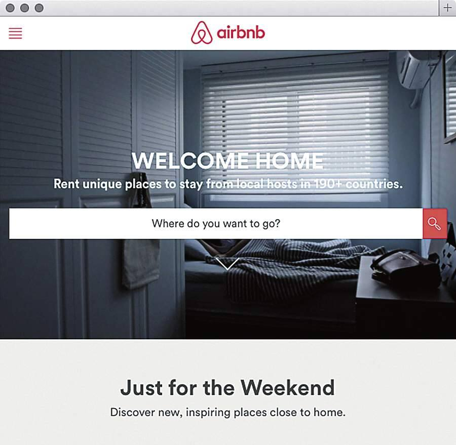 Airbnb web site.