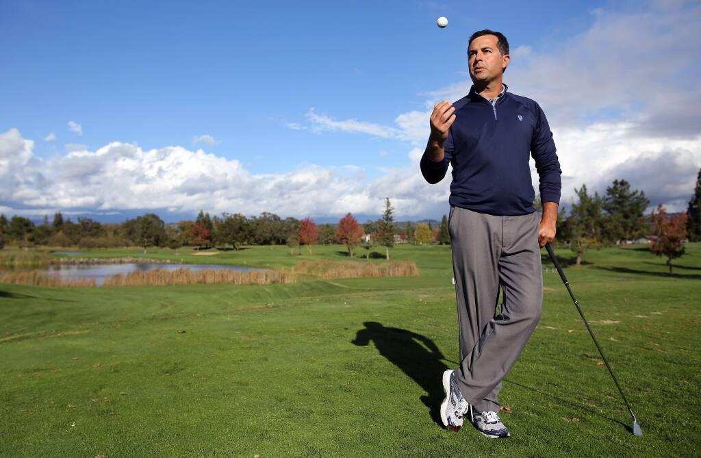 Jason Schmuhl is the head golf pro at Windsor Golf Club. (Christopher Chung / The Press Democrat)