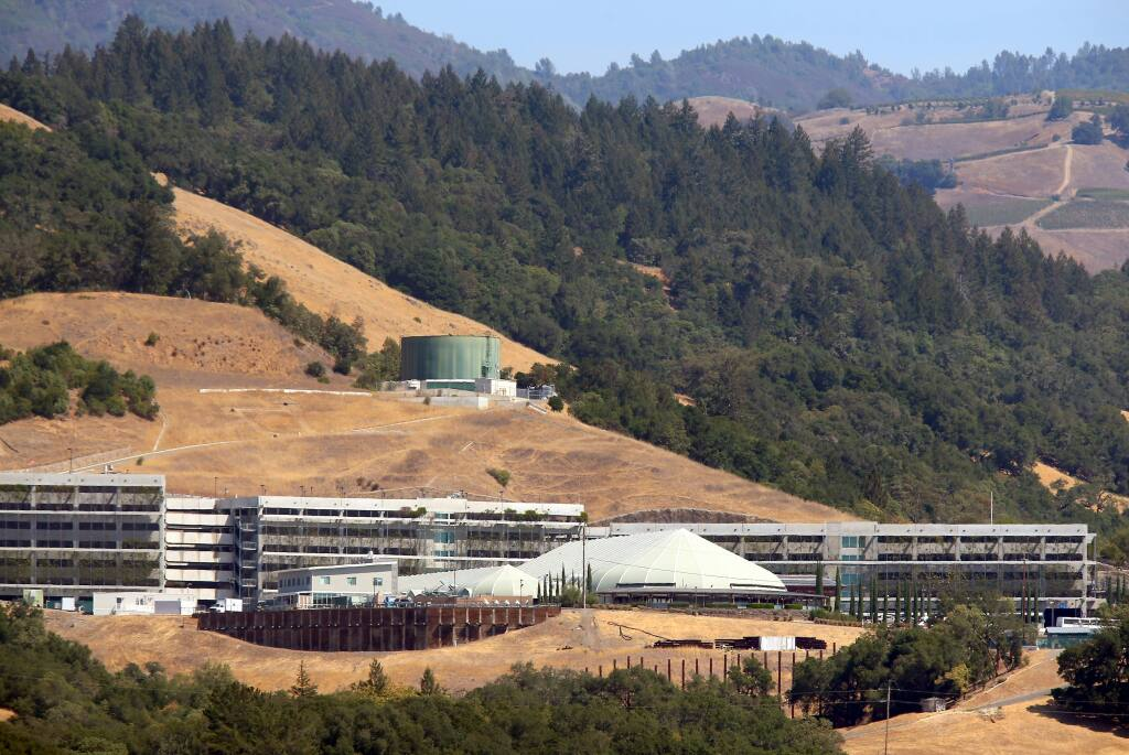 River Rock Casino sits perched overlooking the Alexander Valley, north of Healdsburg on Thursday, Sept. 11, 2014. (Christopher Chung / The Press Democrat)
