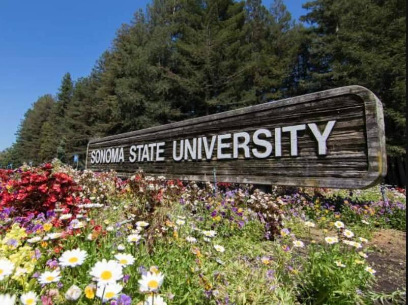 Sonoma State University entrance in Rohnert Park. (SSU)