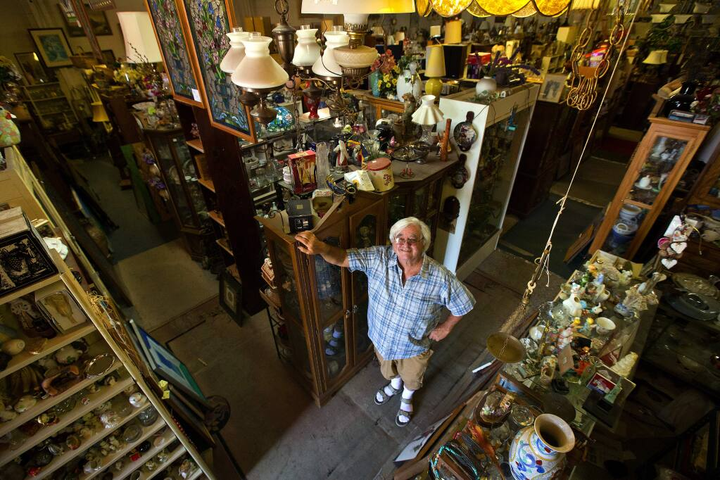 Harry Kniffin will close his Harry's Second Hand Warehouse after 40 years in the same location north of Railroad Square in Santa Rosa. (JOHN BURGESS/ PD)