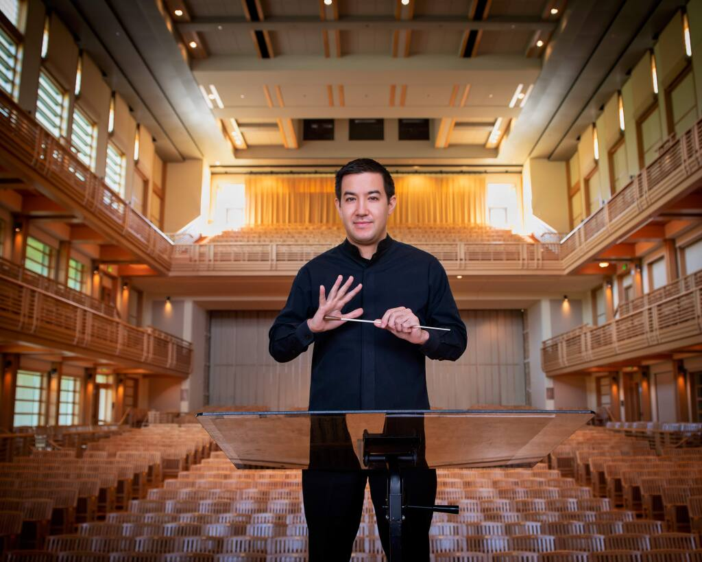 Francesco Lecce-Chong, 33, music director, Santa Rosa Symphony, is a 2020 Forty Under 40 winner. (Silverman photo)