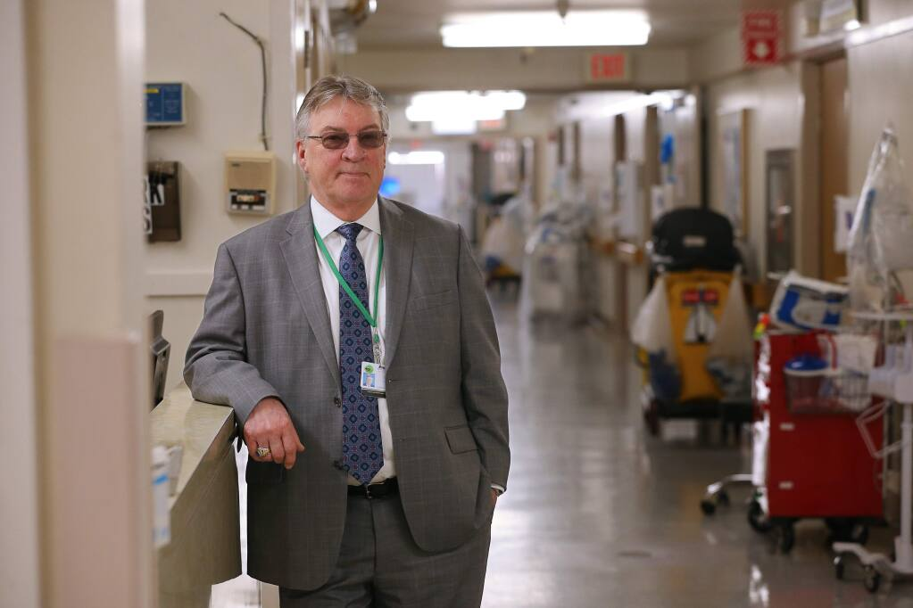 Healdsburg District Hospital CEO Joe Harrington in the old section of the hospital that needs to be retrofitted to meet seiemic safety requirements, in Healdsburg on Thursday, April 18, 2019. (Christopher Chung/ The Press Democrat)
