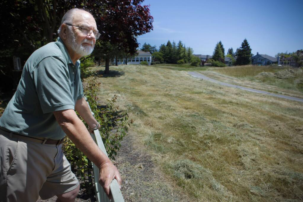 Petaluma, CA, USA. Tuesday, May 23, 2017._ Upon retiring, Jack Osman bought his house on the Adobe Creek Golf Course 19 years ago because he loved playing the course. Since it closed, homeowners are upset that it's gone and the property is not being maintained. (CRISSY PASCUAL/ARGUS-COURIER STAFF)